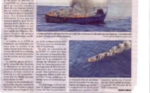 Bateau en flamme à Bonifacio