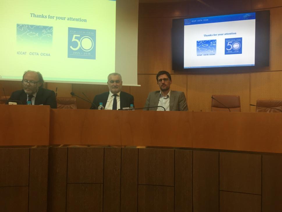 Petr'Antone TOMASI, Président du groupe  Corsica Libera présent lors de la 2ème journée du MEDAC au côté de Gérard ROMITI.DC