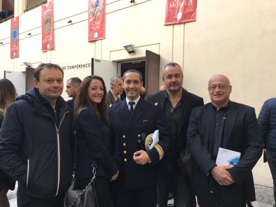 Riyad Djaffar, Délégué du DIRM en Corse était présent au 1er Conseil de gestion du PNM