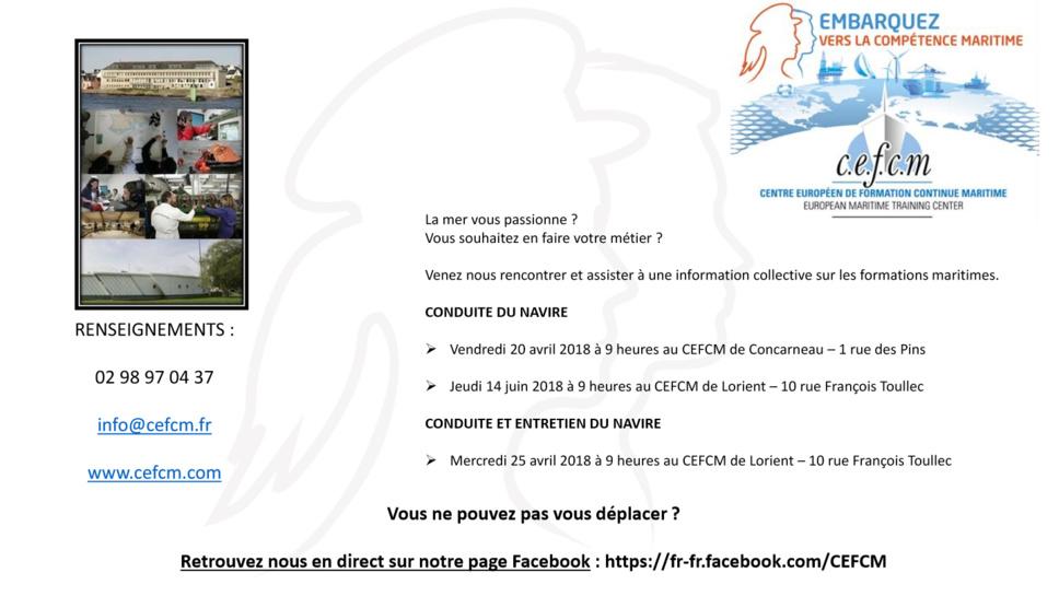 Informations sur les métiers de la mer