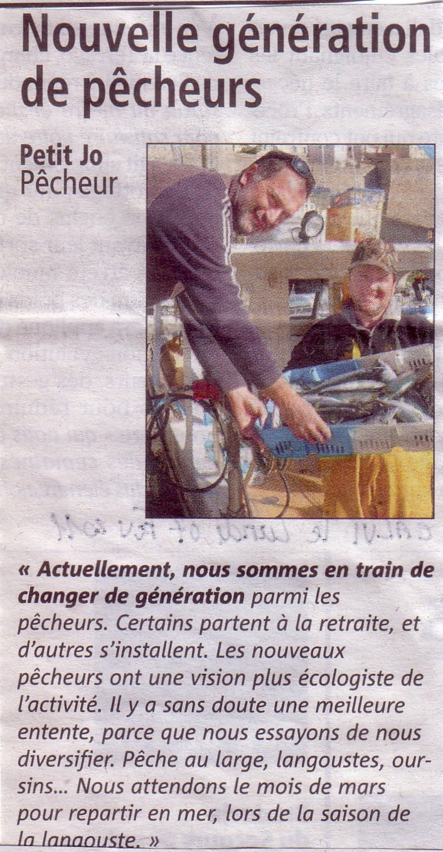 """Les jeunes à la pêche selon """"petit Jo"""""""