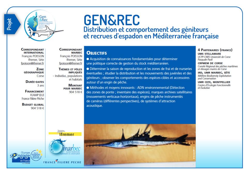 Les objectifs du projet GEN&REC