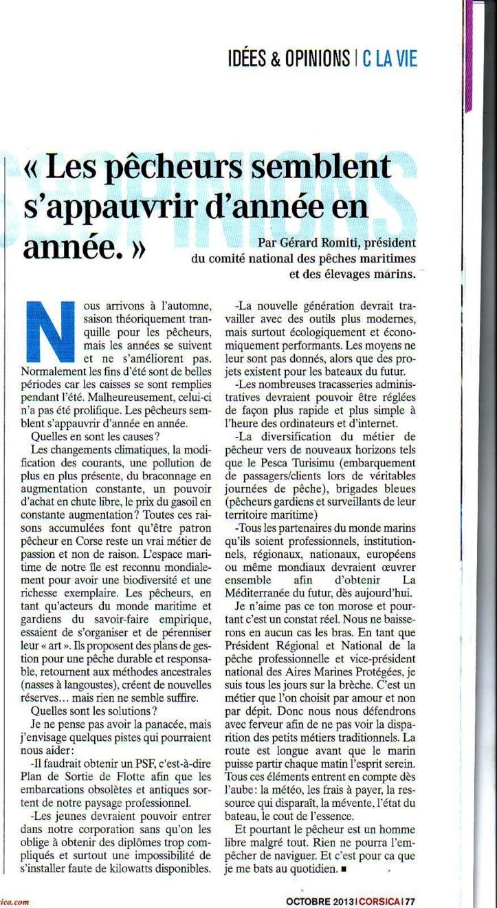 magazine CORSICA Octobre 2013