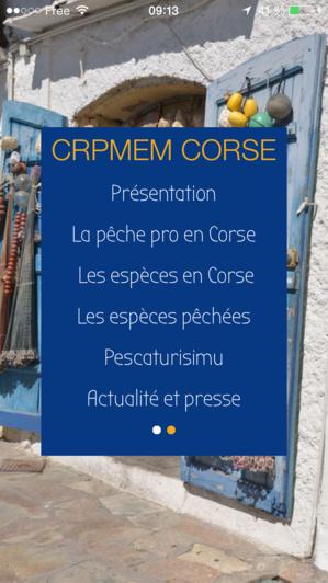 L'application CRPMEM Corse