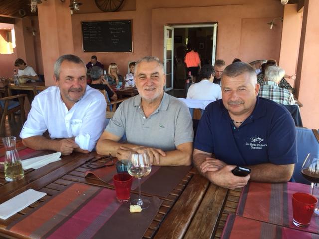 Daniel Defusco, Président de l'URPMPC, 2ème Prud'homme de Bastia/Cap Corse, Gérard Romiti, Président du CRPMEMC ont reçu Eric Blanc secrétaire général de la FFSPM à Aléria pour une visite d'une semaine en Corse (Bastia/Ajaccio)