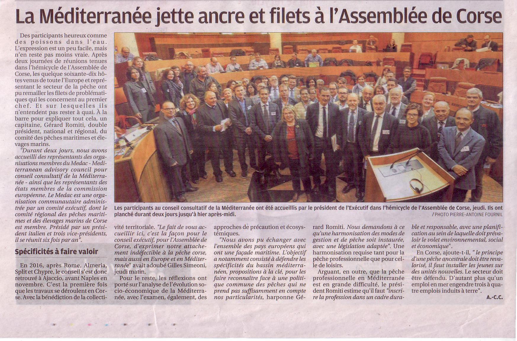 L'ensemble des pays membres du MEDAC avaient répondu présent à l'Invitation de Gérard ROMITI et de la Corse.DC
