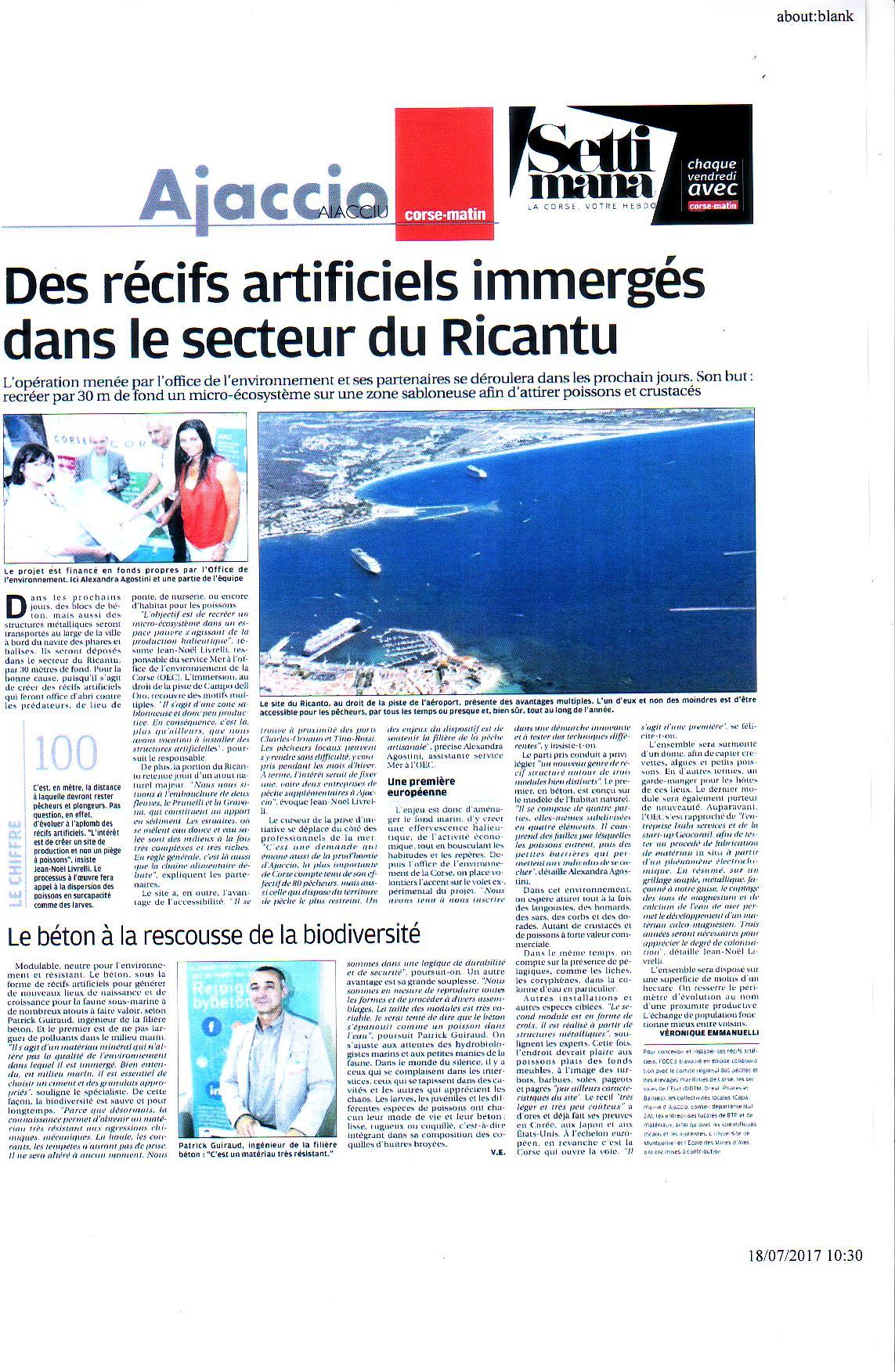 Récifs Artificiels