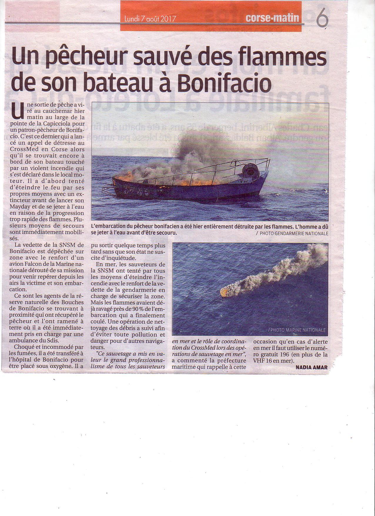 Philippe Botti, 1er prud'homme de Bonifacio directement concerné par la famille du pêcheur s'est rendu très vite sur zone.