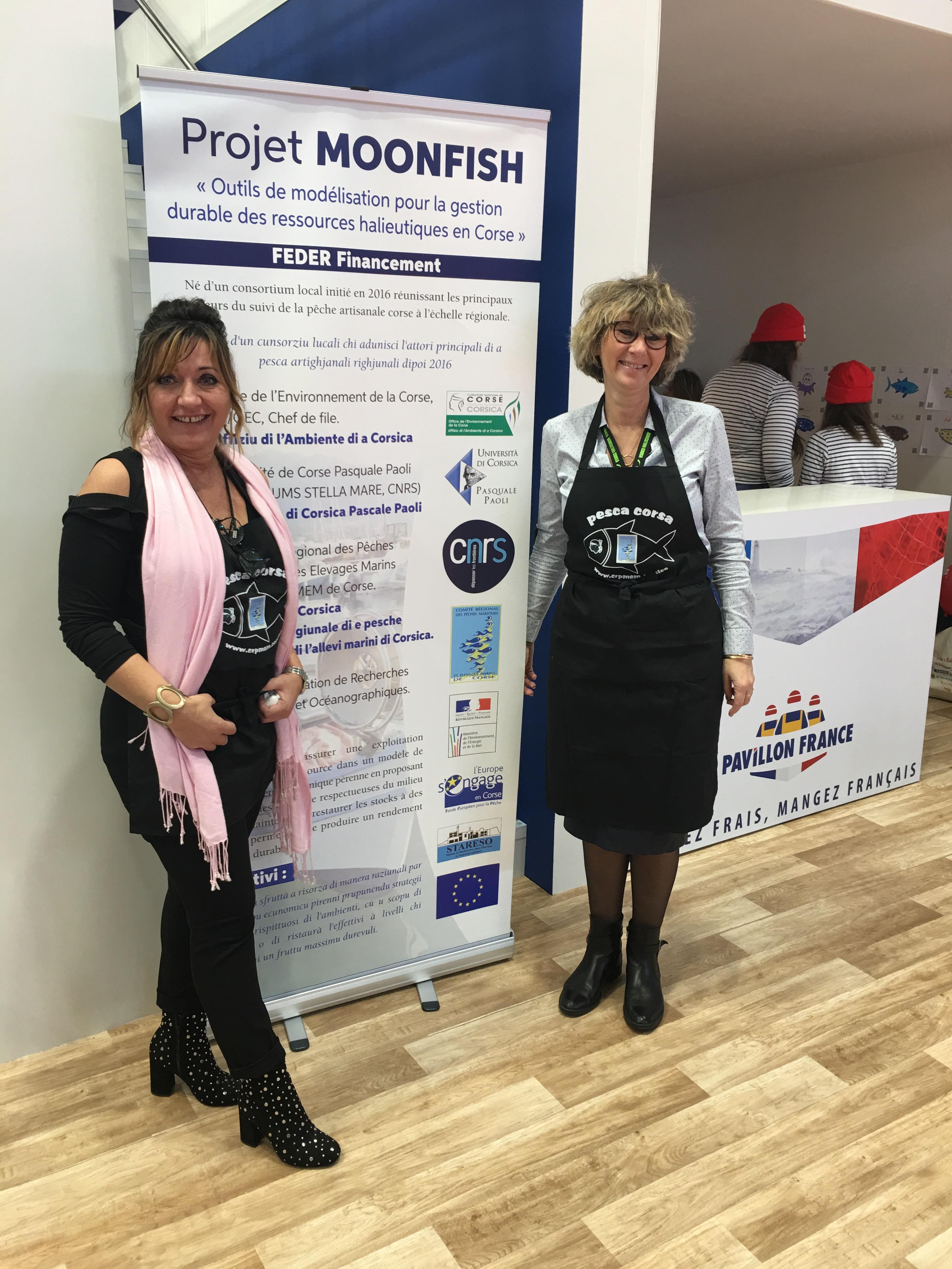 Marie Lucie et Coralie assurent la promotion du projet MOONFISCH et DACOR au SIA