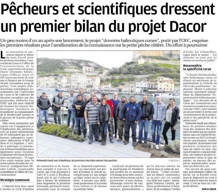 Projet DACOR - Bonifacio