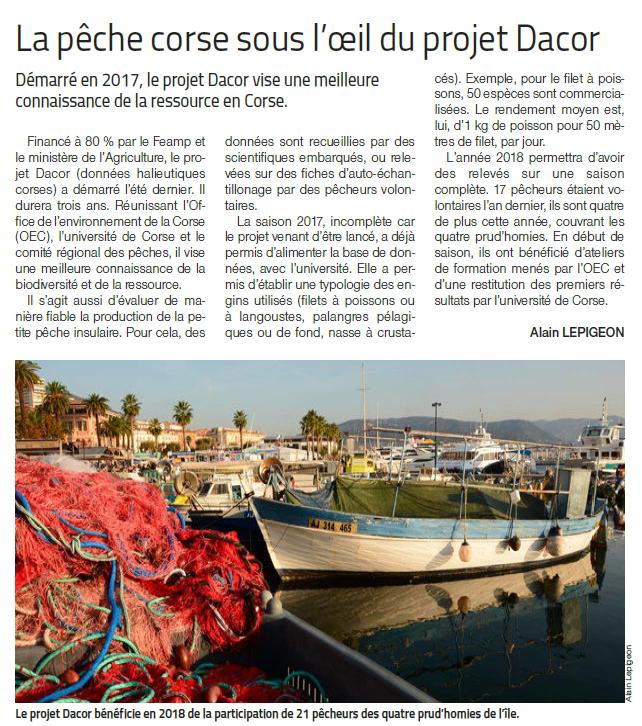 🐟 Article du Marin à propos du programme DACOR