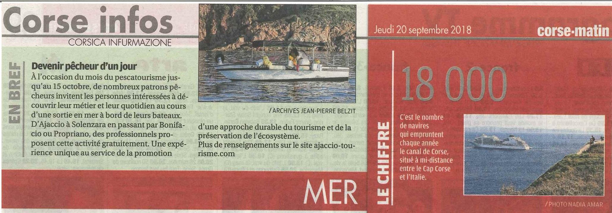 Le mois du pescatourisme en Corse