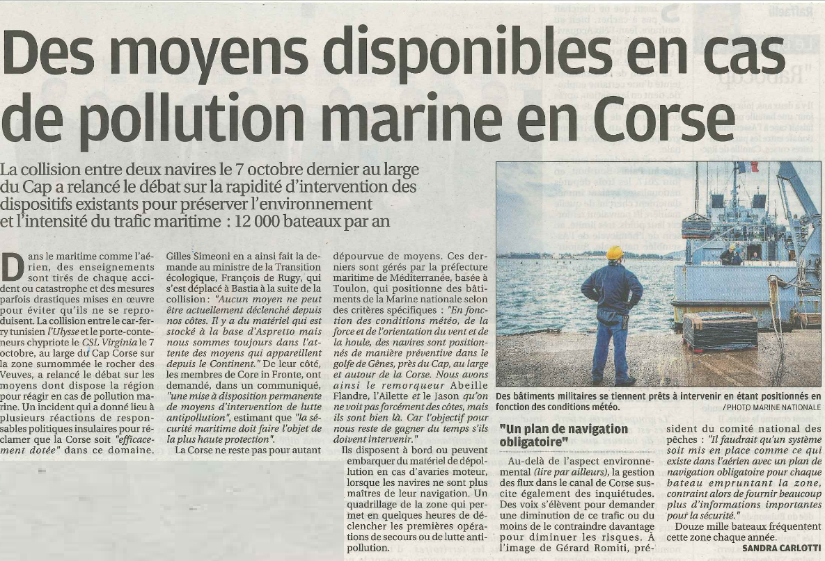 La lutte contre la pollution en Corse