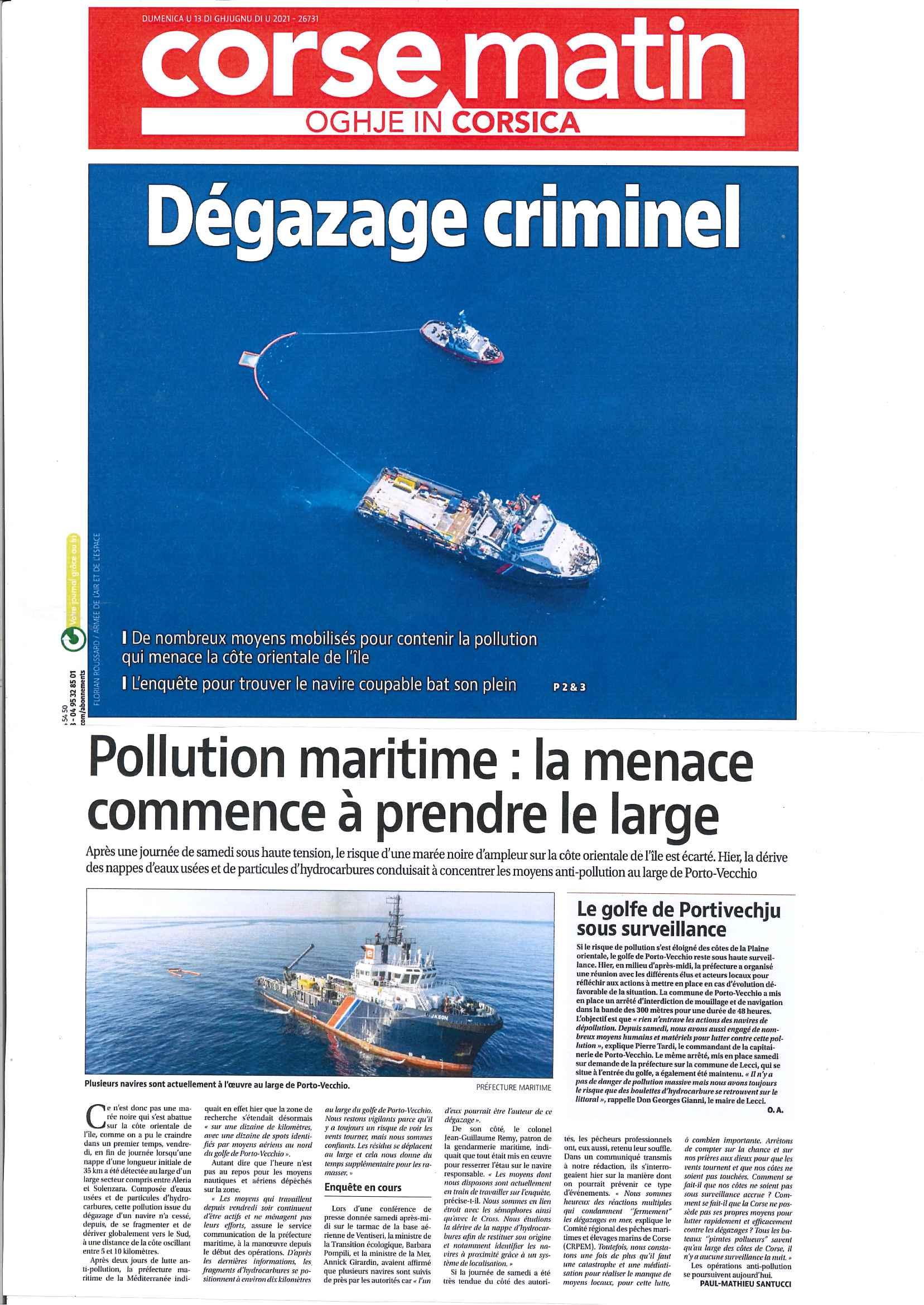 Pollution Solenzara