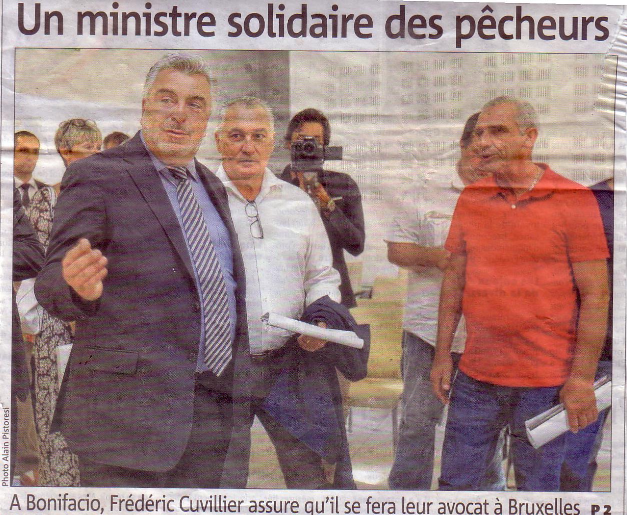 F.CUVILLIER - Secrétaire d'Etat chargé des transports et de la pêche en visite en Corse