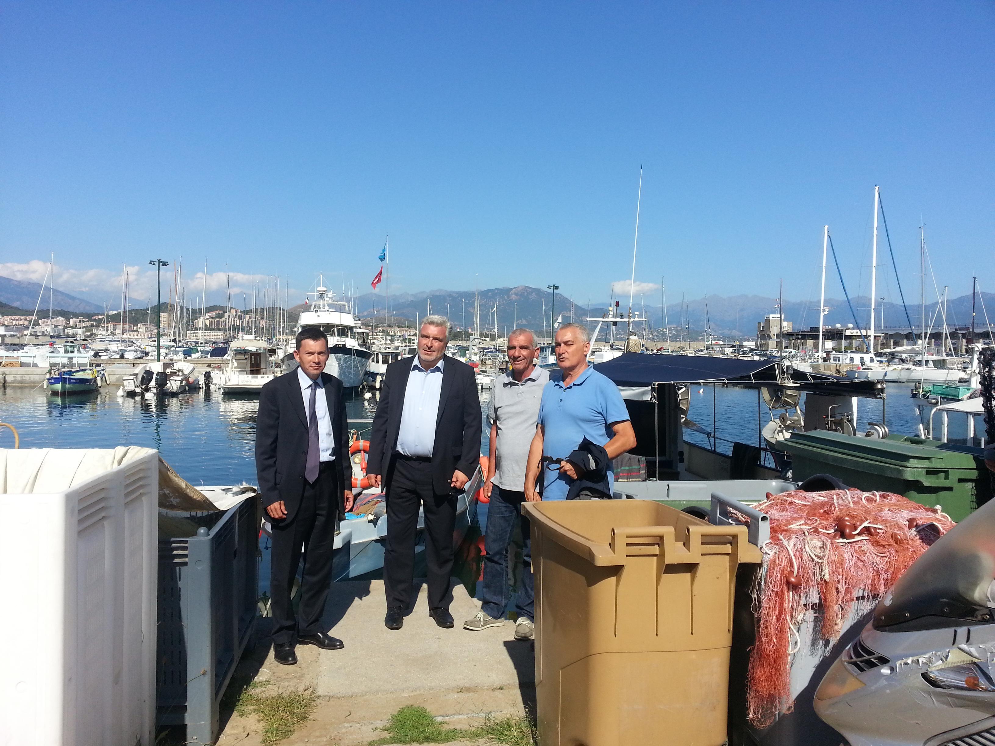 Frédéric CUVILLIER en visite en Corse