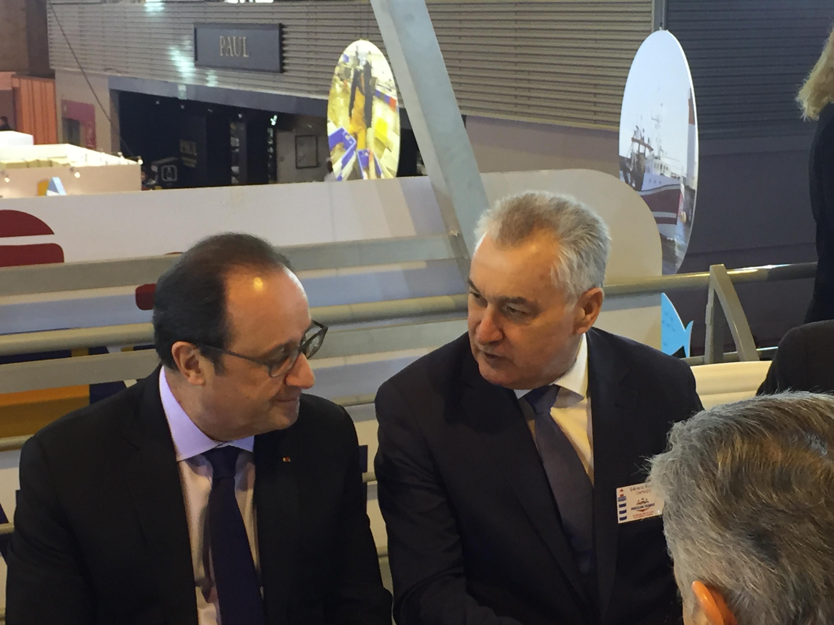 François Hollande et Gérard Romiti