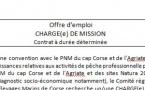 Offre d'emploi de chargé(e) de mission PNM