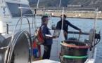 Le navire POSEIDON, d'Alain MORACCHINI concerné par l'obligation de détection d'amiante accueil le technicien  de la societé Wegroup