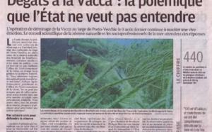 Déminage de la Vacca - réaction du Comité Régional des Pêches et de la prud'homie de Bonifacio