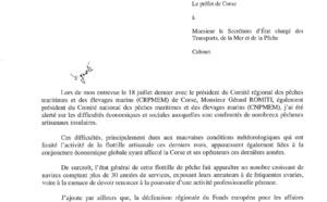 Entrevue du 18 juillet 2016 entre le préfet de corse et le président du CRPMEMC, Gérard ROMITI accompagné des prud'hommes