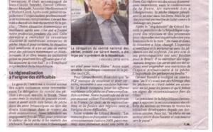 Gérard Romiti reçu par le président de la République à l'Elysée