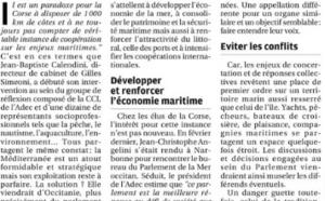 La future création d'un parlement de la Mer