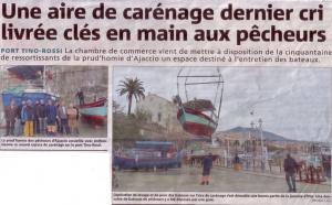 AJACCIO : Une nouvelle aire de carénage port Tino ROSSI