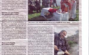 Pélerinage Santa Agata -Ile-Rousse