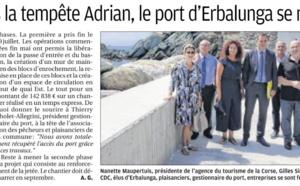 Posidonies dans le Cap Corse et Port d'Erbalunga